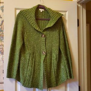 Green cardigan/sweater